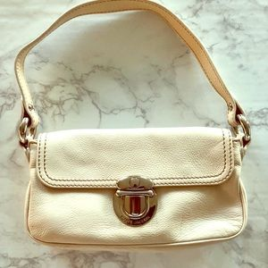 Authentic Marc Jacobs White Leather Purse